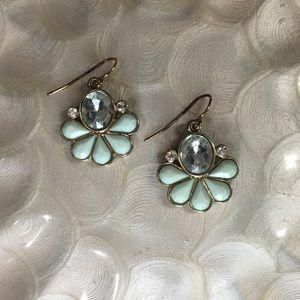 Mint Green Drop Statement Earrings